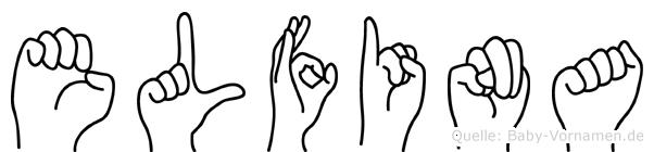 Elfina im Fingeralphabet der Deutschen Gebärdensprache