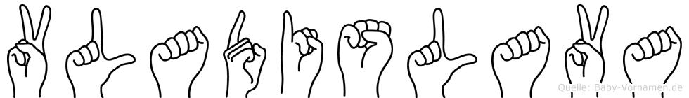 Vladislava in Fingersprache für Gehörlose