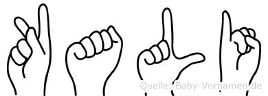 Kali in Fingersprache für Gehörlose