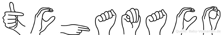 Tchamaco in Fingersprache für Gehörlose