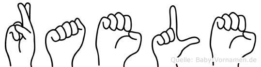 Raele in Fingersprache für Gehörlose