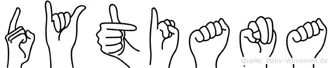 Dytiana in Fingersprache für Gehörlose