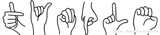 Tymple im Fingeralphabet der Deutschen Gebärdensprache
