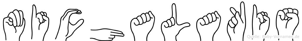 Michalakis im Fingeralphabet der Deutschen Gebärdensprache