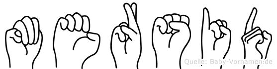 Mersid im Fingeralphabet der Deutschen Gebärdensprache