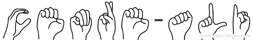 Cemre-Ali im Fingeralphabet der Deutschen Gebärdensprache