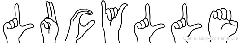 Lucylle im Fingeralphabet der Deutschen Gebärdensprache
