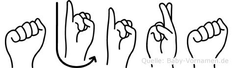 Ajira im Fingeralphabet der Deutschen Gebärdensprache