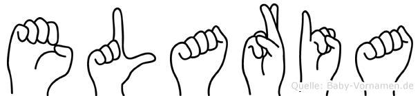 Elaria im Fingeralphabet der Deutschen Gebärdensprache