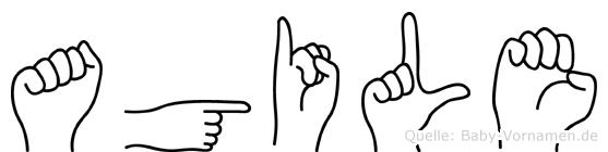 Agile im Fingeralphabet der Deutschen Gebärdensprache