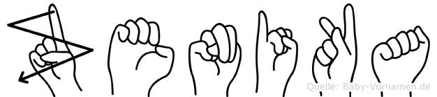 Zenika in Fingersprache für Gehörlose