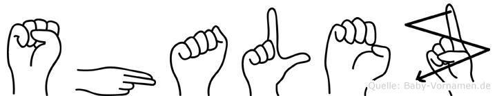 Shalez in Fingersprache für Gehörlose