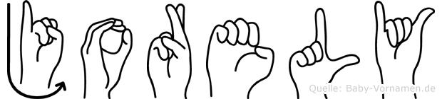 Jorely im Fingeralphabet der Deutschen Gebärdensprache