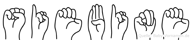 Siebine im Fingeralphabet der Deutschen Gebärdensprache