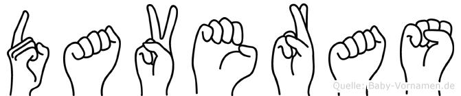 Daveras in Fingersprache für Gehörlose