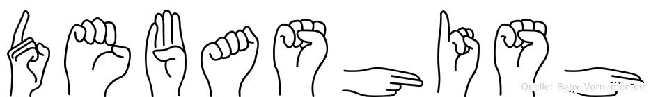 Debashish im Fingeralphabet der Deutschen Gebärdensprache