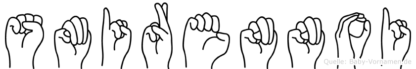 Smirennoi im Fingeralphabet der Deutschen Gebärdensprache