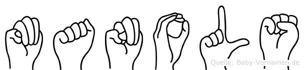 Manols im Fingeralphabet der Deutschen Gebärdensprache