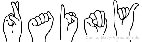 Rainy in Fingersprache für Gehörlose