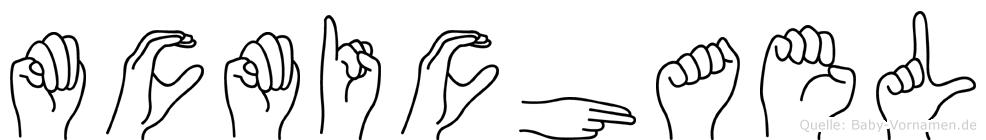 Mcmichael im Fingeralphabet der Deutschen Gebärdensprache
