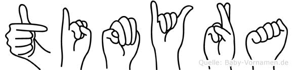 Timyra in Fingersprache für Gehörlose