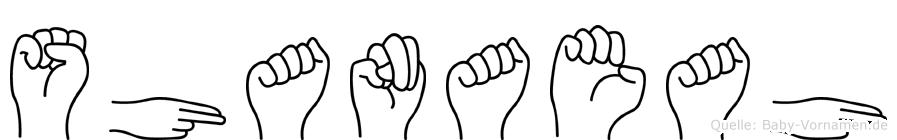 Shanaeah in Fingersprache für Gehörlose