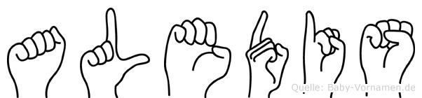 Aledis in Fingersprache für Gehörlose