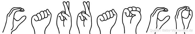 Carrasco in Fingersprache für Gehörlose