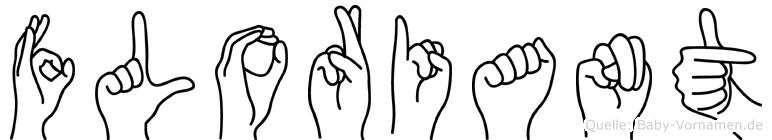 Floriant im Fingeralphabet der Deutschen Gebärdensprache