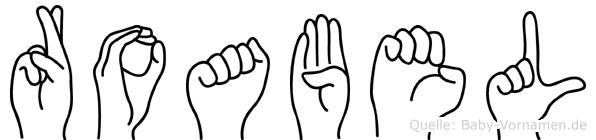 Roabel in Fingersprache für Gehörlose