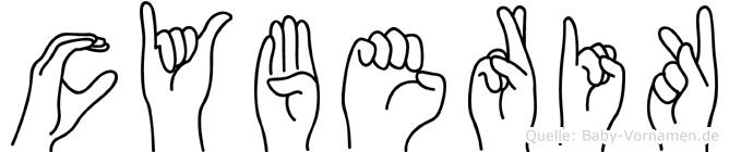 Cyberik in Fingersprache für Gehörlose