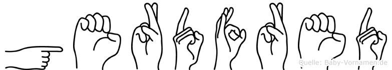 Gerdfred im Fingeralphabet der Deutschen Gebärdensprache