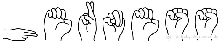 Herness in Fingersprache für Gehörlose