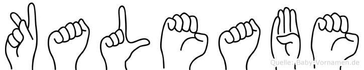 Kaleabe im Fingeralphabet der Deutschen Gebärdensprache