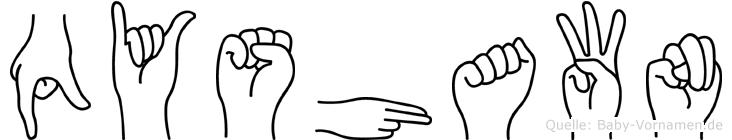 Qyshawn in Fingersprache für Gehörlose