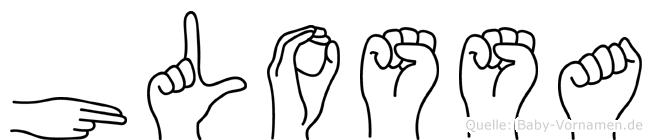 Hlossa im Fingeralphabet der Deutschen Gebärdensprache