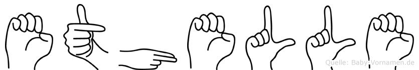 Ethelle in Fingersprache für Gehörlose