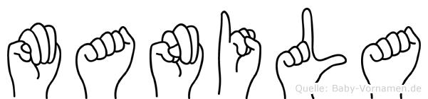Manila in Fingersprache für Gehörlose