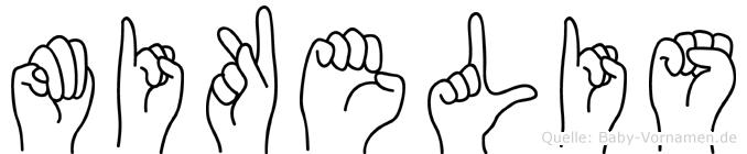 Mikelis im Fingeralphabet der Deutschen Gebärdensprache
