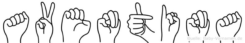 Aventina in Fingersprache für Gehörlose
