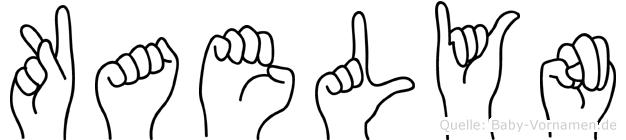 Kaelyn im Fingeralphabet der Deutschen Gebärdensprache