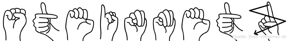 Steinmetz im Fingeralphabet der Deutschen Gebärdensprache