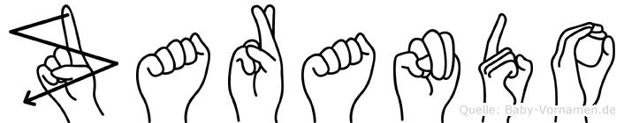 Zarando in Fingersprache für Gehörlose