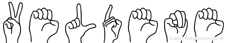 Veldene im Fingeralphabet der Deutschen Gebärdensprache