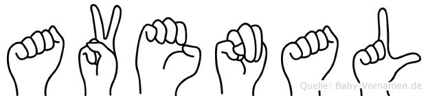 Avenal im Fingeralphabet der Deutschen Gebärdensprache