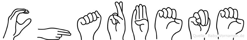 Charbene in Fingersprache für Gehörlose