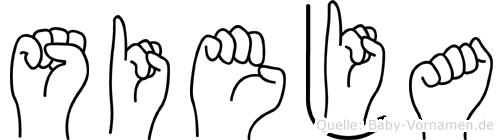 Sieja im Fingeralphabet der Deutschen Gebärdensprache
