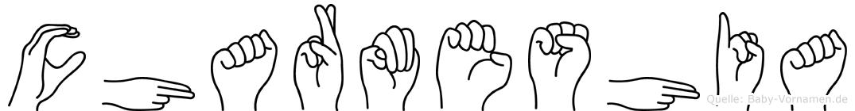 Charmeshia in Fingersprache für Gehörlose