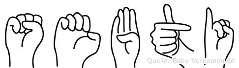 Sebti in Fingersprache für Gehörlose