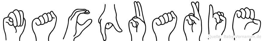 Macquarie in Fingersprache für Gehörlose